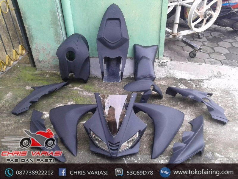 Full Fairing R125 New Vixion mix Body r25 v1 Black Doff