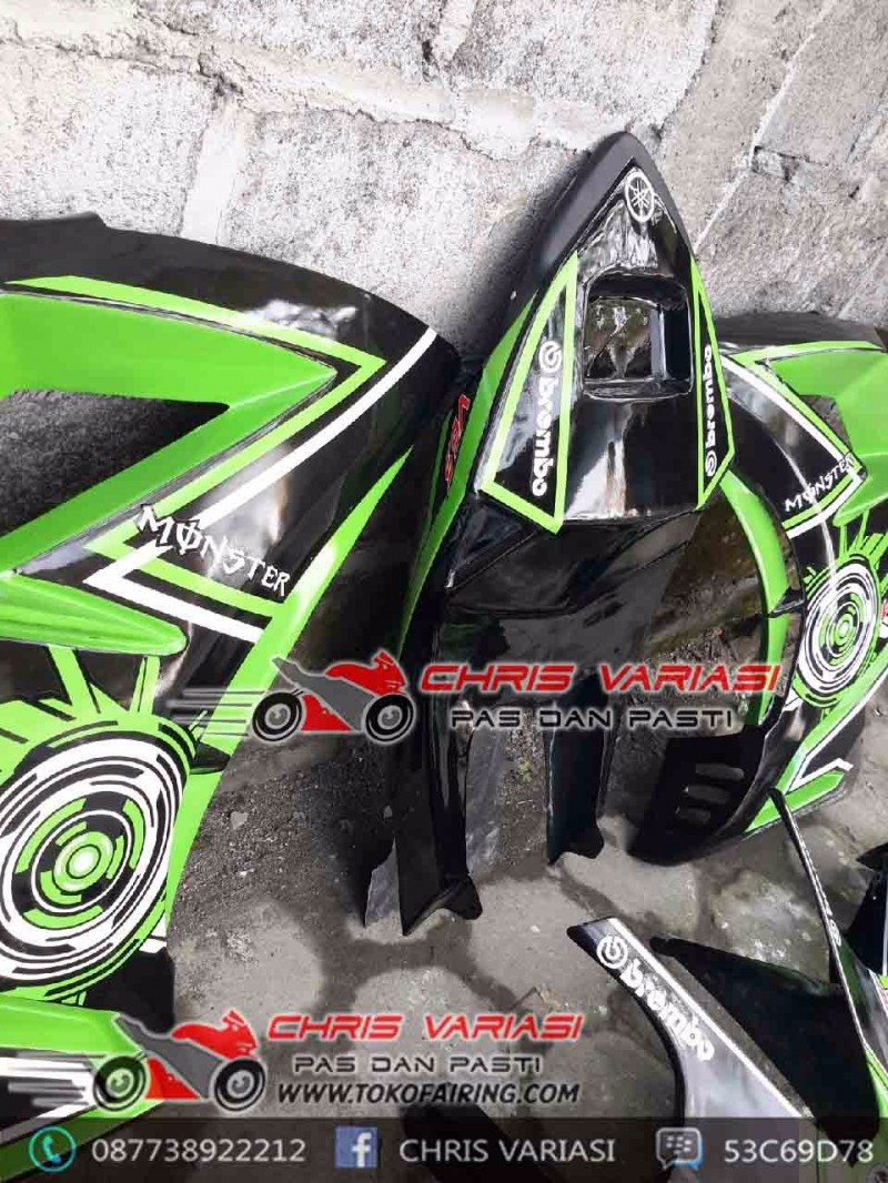 Fullset Fairing Cbr tokyo Concept mix body r25 v2 Black Green Tron Monster