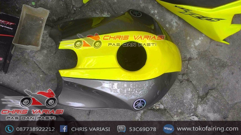 Full set Fairing R25 V1 New Vixion Yellow Grey Rossi