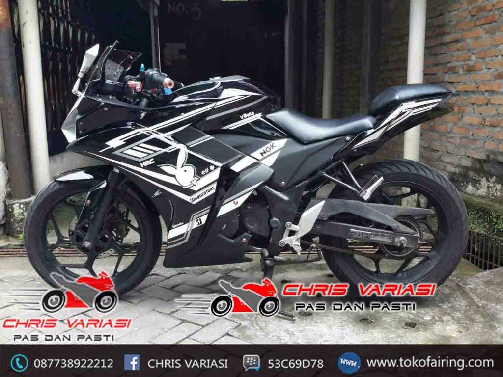 Fairing Depan r25 Mix Body Ninja Fi on Old Cb 150R Hitam