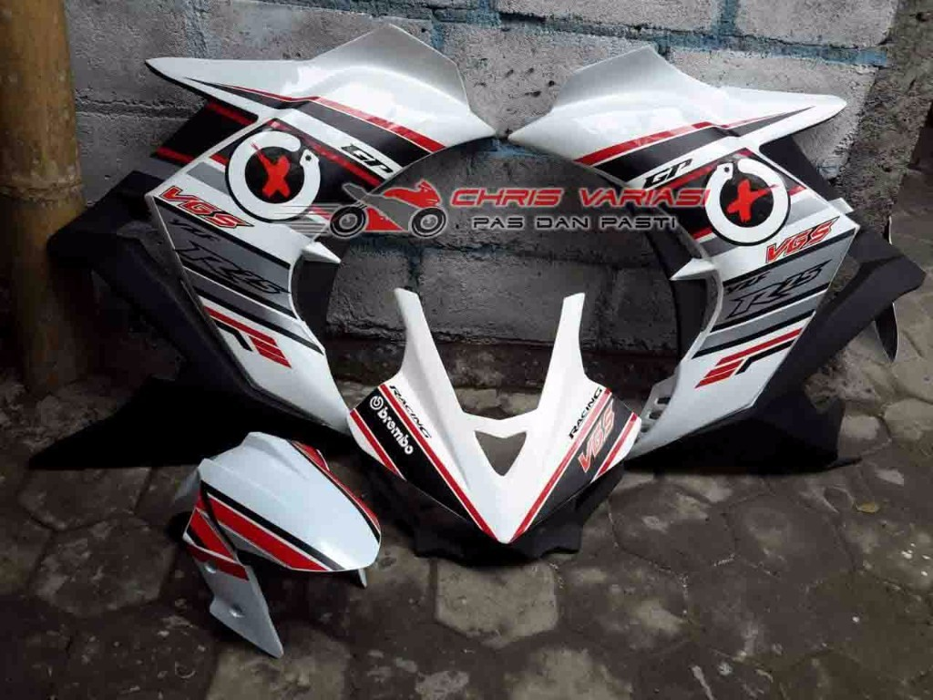 Fairing depan r25 v1 GP Universal White Black