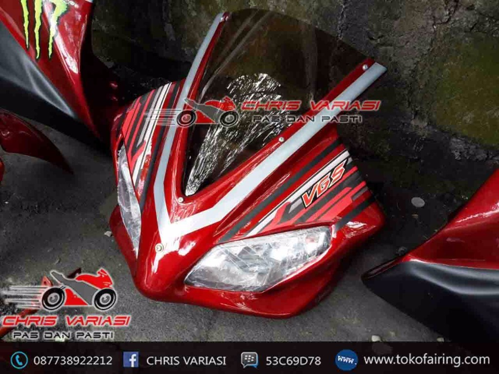 Full Fairing depan model Ninja injeksi Merah Movistar
