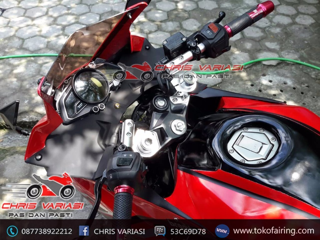 Pulsar 200 Modif Fairing depan model R25 V1 + Cover Tangki