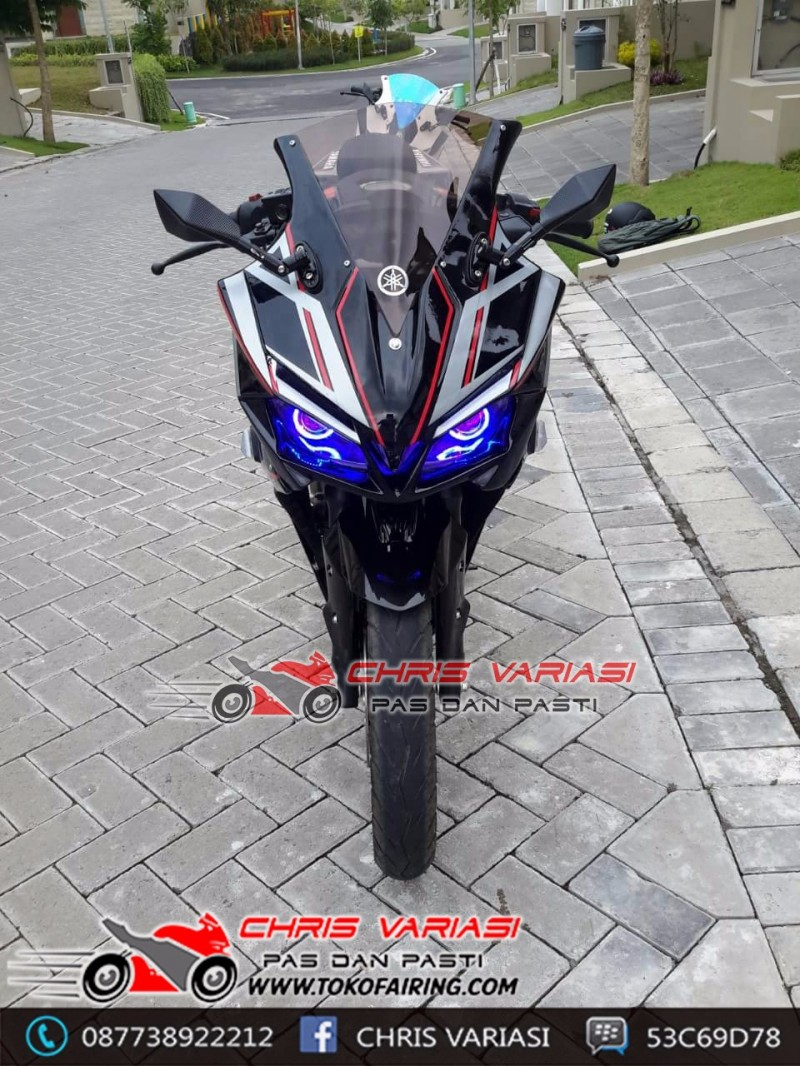 Full Fairing Tokyo Concept mix Body r25 on New Vixion Tribal Wolf Black Silver