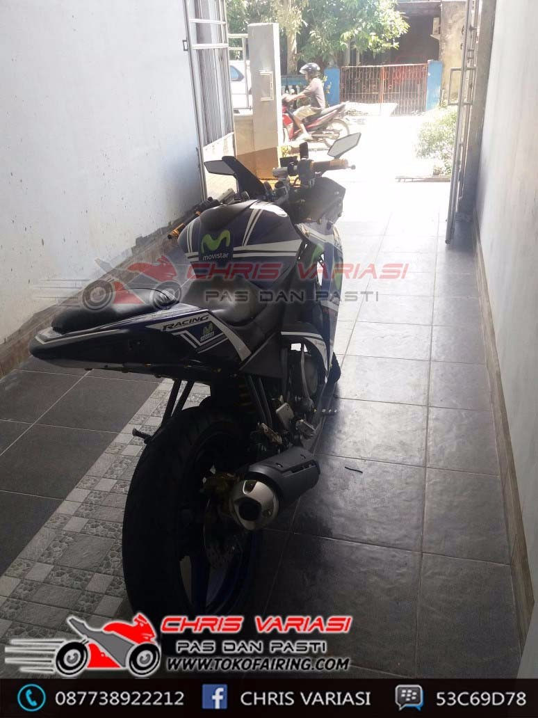 New Vixion Full Fairing r25 v1 mix body r25 v2 Biru Movistar