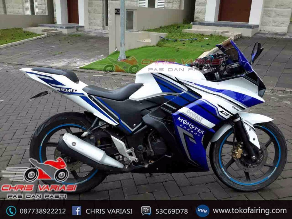 Old CB 150r Fullset Fairing r25 mix r125 Putih Biru GP