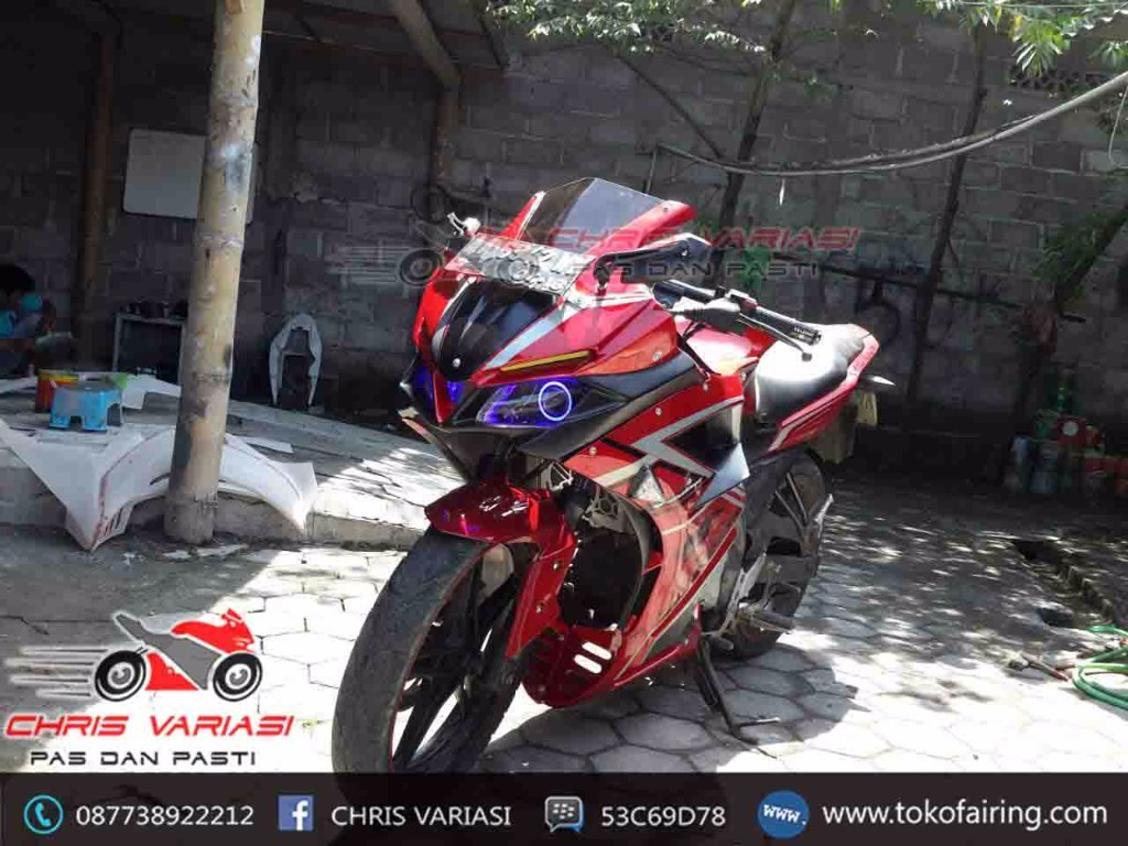 Full Fairing Depan model CBR Tokyo Concept Red Fang on New Vixion