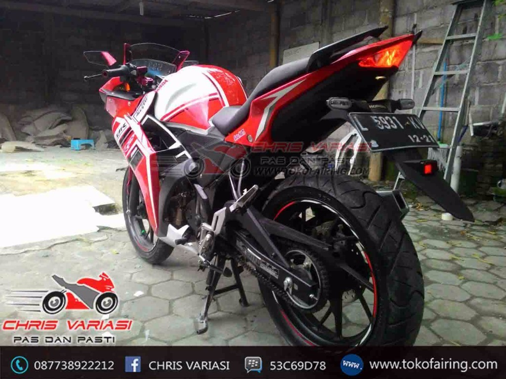 Full Fairing depan model R25 On New Cb 150R