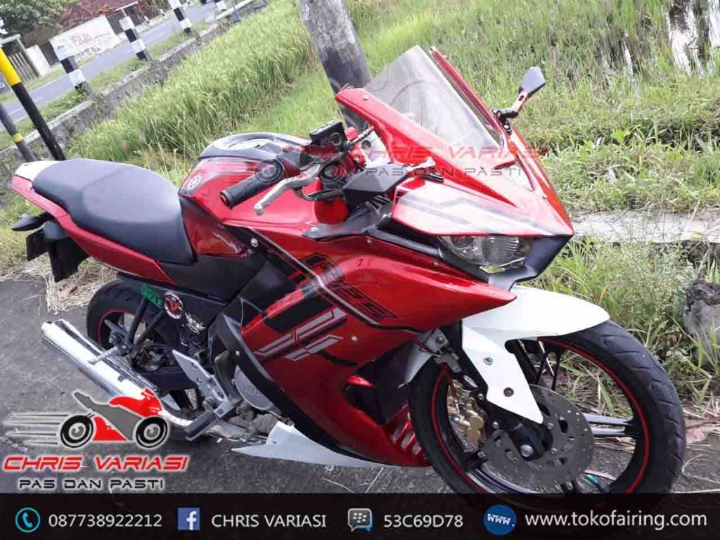 Full Fairing depan model r25 on New Vixion Energize Edition