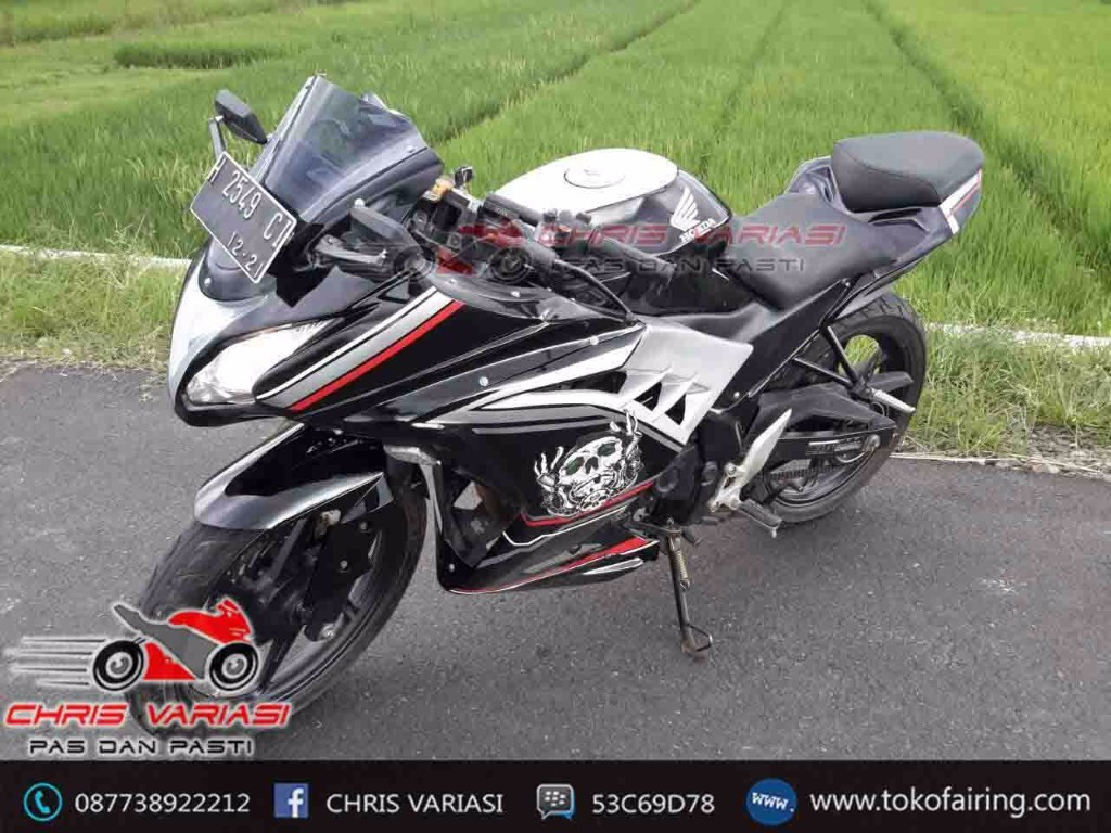 Fairing Model Ninja Fi On Cb 150r old BLACK SKELETON EDITION