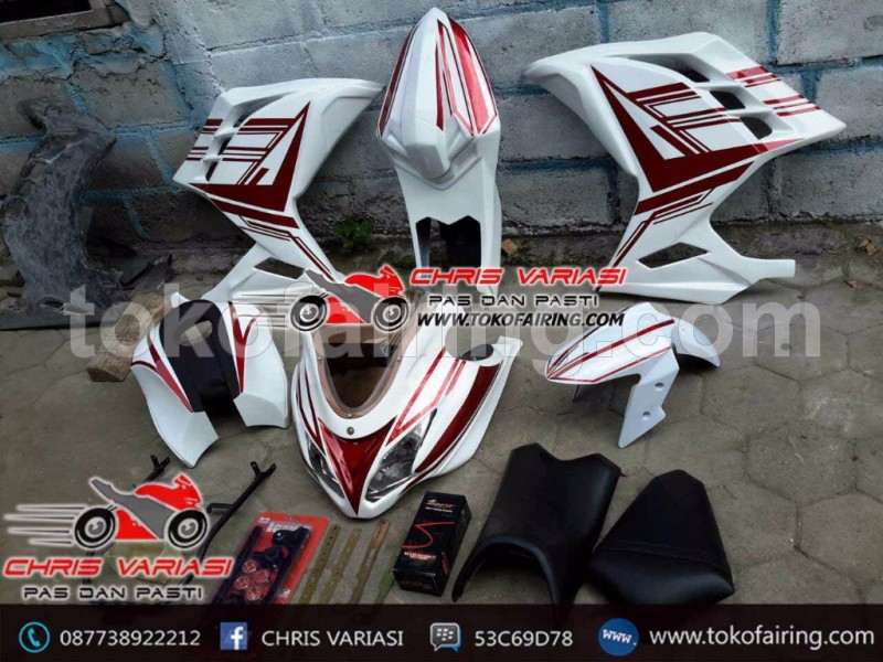 Fairing full set Ninja Injeksi Nvl white red
