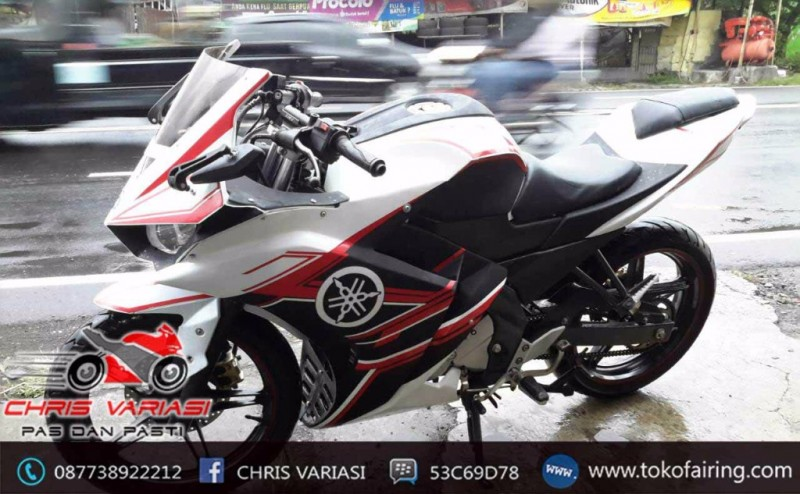 Fairing Full set R25 V1 New Vixion White Black