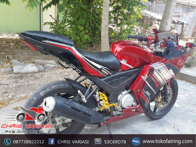 Fairing Full set R25 V2 Mix Body Belakang Ninja Fi Old Vixion Red Black