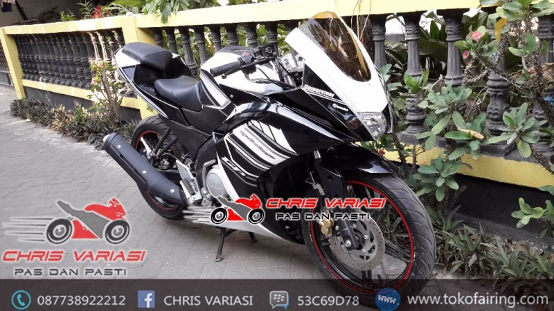 Fairing Full set R25 V3 New Vixion Black White GP