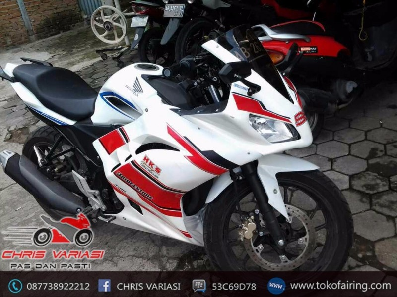 Full Fairing Depan Ninja FI Cb 150R old White