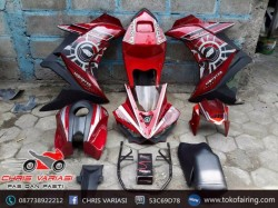 Fairing Full set R25 V1 New Vixion Red Techno