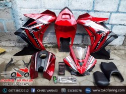 Fairing Full set R25 V1 New Vixion Red Silverite
