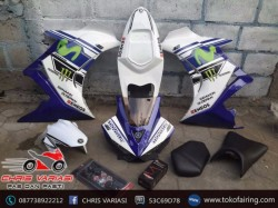 Fairing Full set R25 V1 New Vixion White Blue Movistar