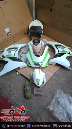 Fairing Full set R25 V3 New Vixion White Green line