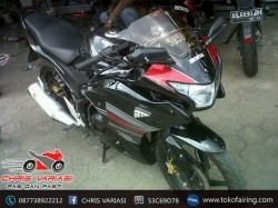 Full Fairing Depan CBR 250 on CB Black