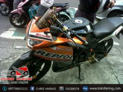 Full Fairing Depan CBR 250 Repsol on CB 150R Old