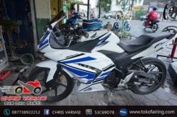Full Fairing Depan Ninja 250 on CB 150R White